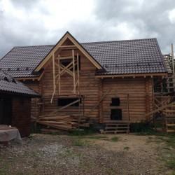 Хотите купить дом из северного зимнего сруба с большим гаражом в окрестностях Звенигорода по бюджетной цене?